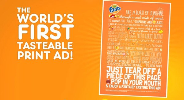 The 'World's First' Tastable Print Ad